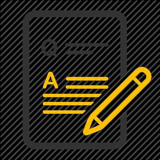 Answer, Exam, Questionnaire, Quiz, Survey, Test Icon