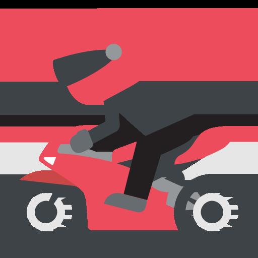 Racing Motorcycle Emoji Vector Icon Free Download Vector Logos