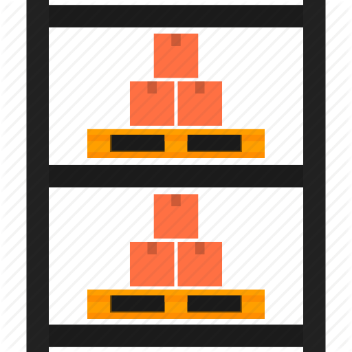 Boxes, Goods, Package, Pallet, Rack, Storage, Warehouse Icon