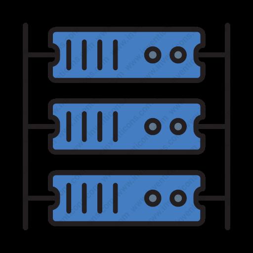 Download Connection,network,rack Server,rack,rack Server Icon