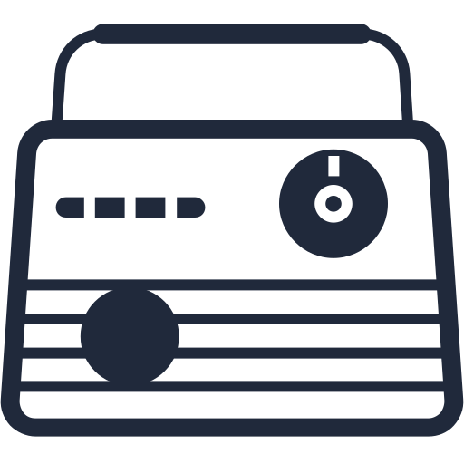Radio, Retro Icon Free Of Retro Items