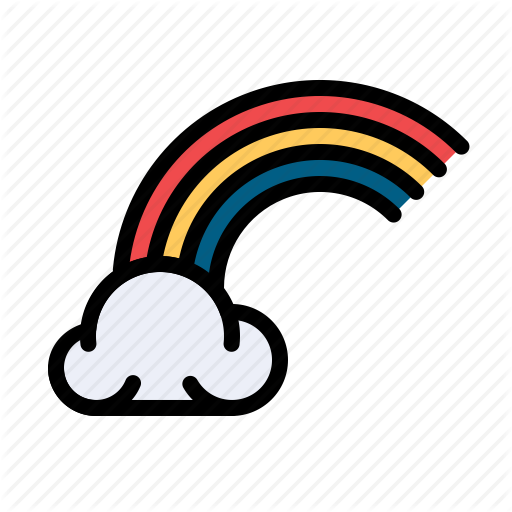 Celebrate, Cloud, Colorful, Ireland, Irish, Rainbow Icon
