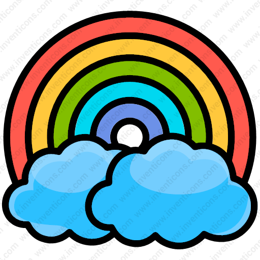 Download Cloud,colorful,rainbow,spring,sun,vibrant Icon Inventicons