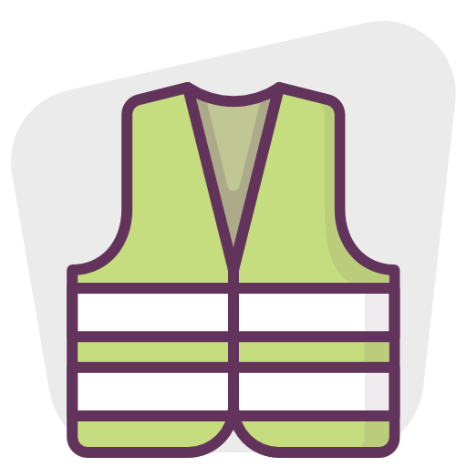 Construction, Protection, Vest, Reflective Icon Free Of Protection