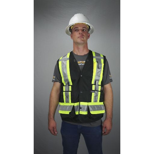 Work King Black Non Ansi Surveyor's Safety Vest