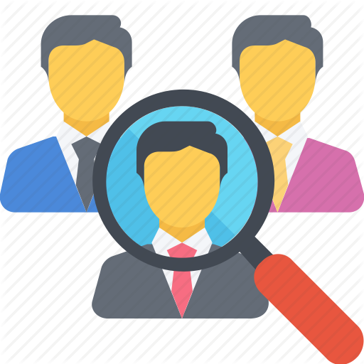 Audience, Group, Job, Market, Search, Target, Vacancy Icon