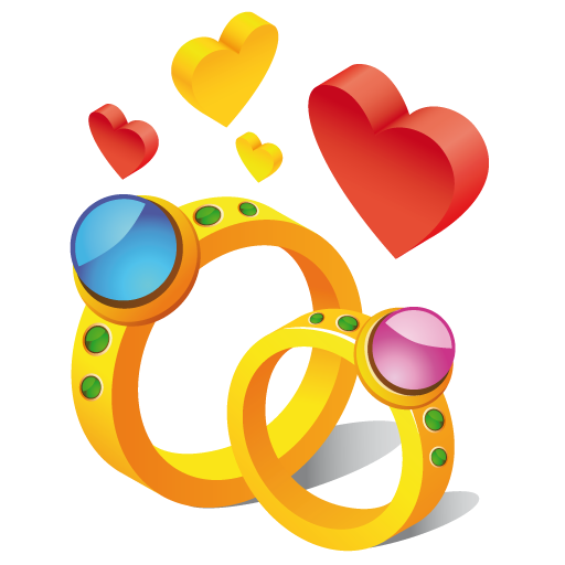 Ring Hearts Icon Iconshow