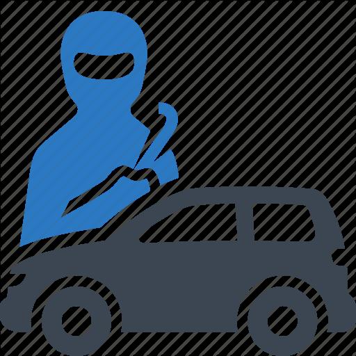 Auto Insurance, Car Insurance, Protection, Thief Icon