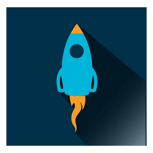 Rocket Square Icon
