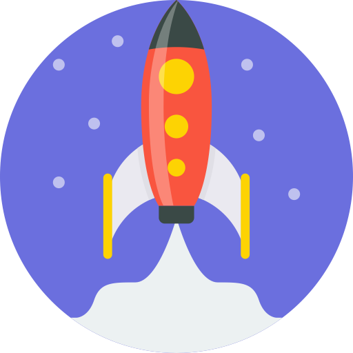 Rounded, Rocket Icon Free Of Round Varieties