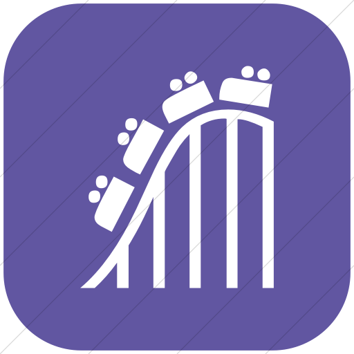 Flat Rounded Square White On Purple Classica Roller