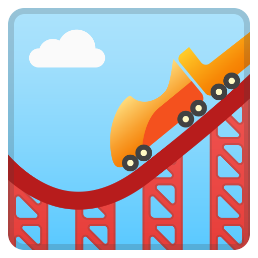 Roller Coaster Icon Noto Emoji Travel Places Iconset Google