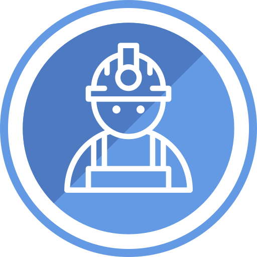Construction, Civil, Engineer, Helmet, Protection, Safety Icon