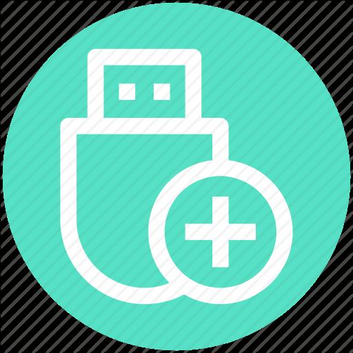 Add, Data Saver Flash, Data Stick, Flash, Flash Drive, Usb Icon