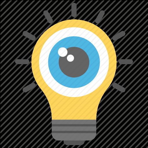 Aware Through Senses, Eyeball Light Bulb, Perception, Sensory