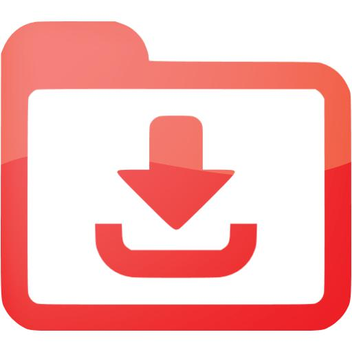 Web Red Downloads Icon