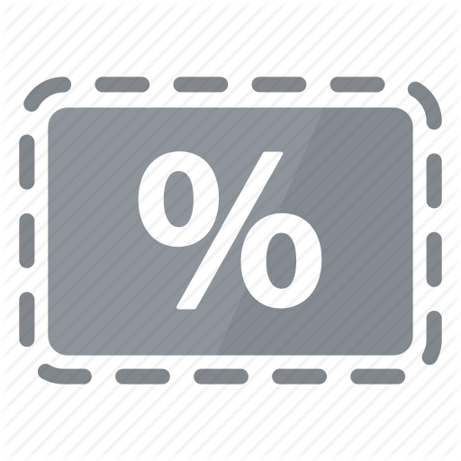 Coupon, Deal, Grey, Percentage, Promo, Reduction, Sale Icon