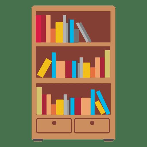 Wooden Bookshelf Icon