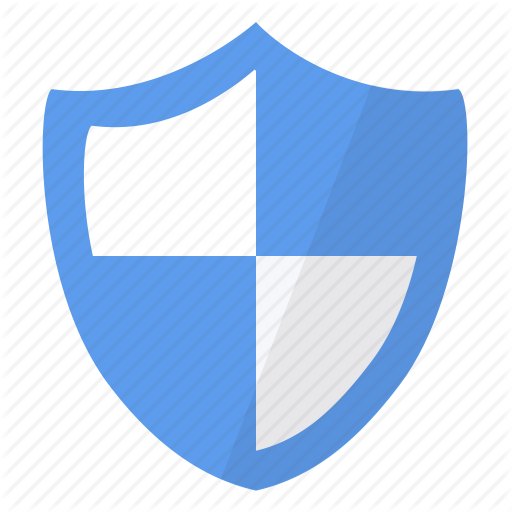 Blue, Protect, Protection, Secure, Security, Shield, White Icon
