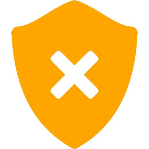 Orange Delete Shield Icon