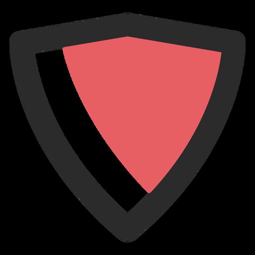 Shield Colored Stroke Icon