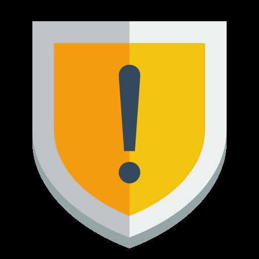 Shield Warning Icon Small Flat Iconset Paomedia