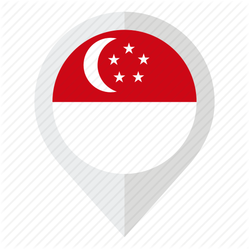 Country, Flag, Geolocation, Map Marker, Singapore, Singapore Flag Icon