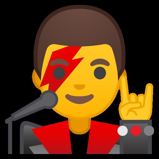 Man Singer Icon Noto Emoji People Profession Iconset Google