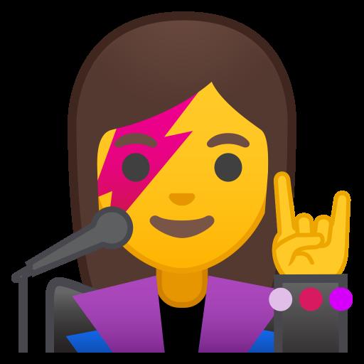 Woman Singer Icon Noto Emoji People Profession Iconset Google