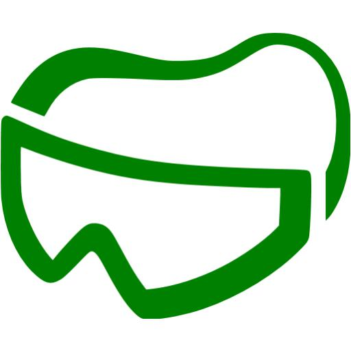 Green Skydiving Gear Icon