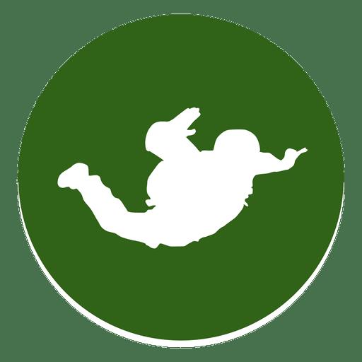 Skydiving Circle Icon
