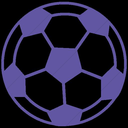 Simple Purple Classica Soccer Ball Icon