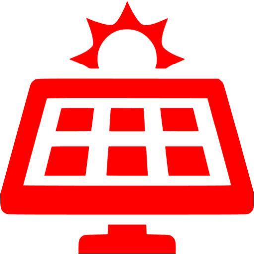 Red Solar Panel Icon