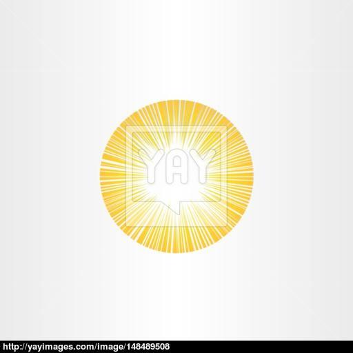 Sunshine Rays Sun Icon Solar Energy Vector