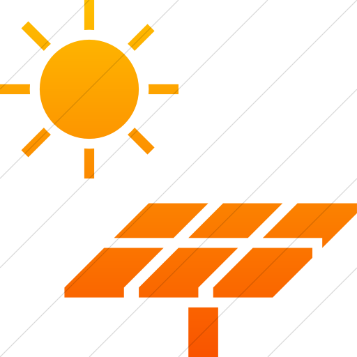 Simple Orange Gradient Iconathon Solar Panel Icon