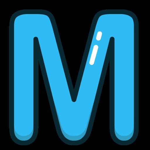 Blue Letter M Blue Letter M Alphabet Letters Icon Space Clipart