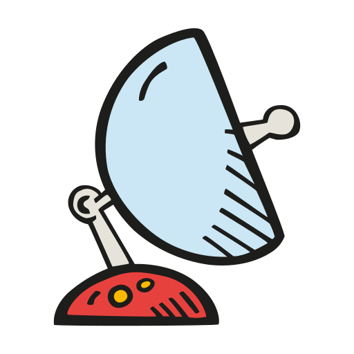 Space, Satellite, Dish Icon Free Of Space Hand Drawn Color