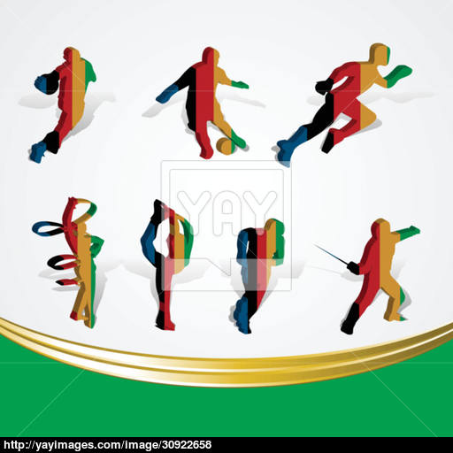 Set Of Various Icon Sport Or Symbol Sports Colorful On White
