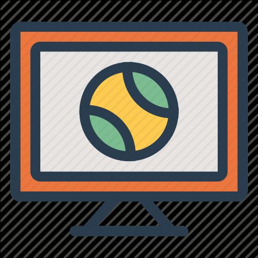 Ball, Lcd, Media, Monitor, Screen, Sport, Television Icon