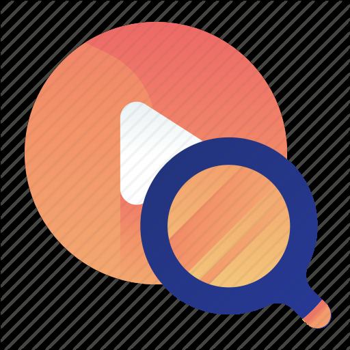 Find, Media, Multimedia, Search, Video Icon