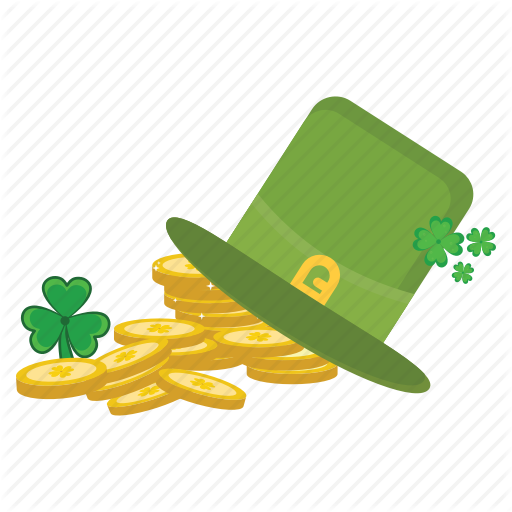 Coins, Hat, Ireland, Irish, Patrick, St Icon