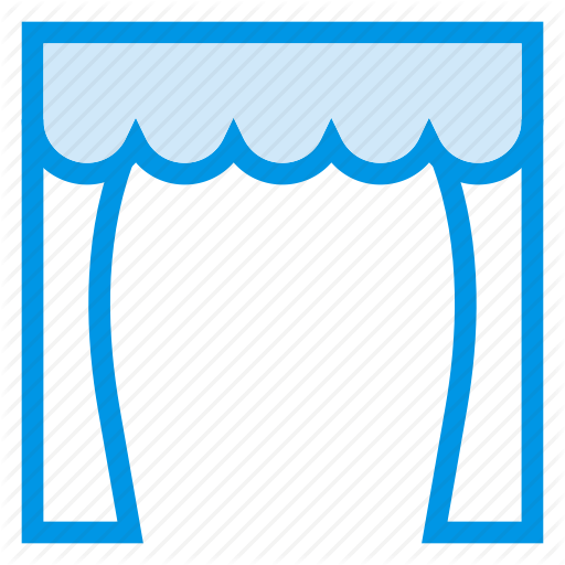 Curtain, Decorations, Home, House, Play, Stage, Theater Icon