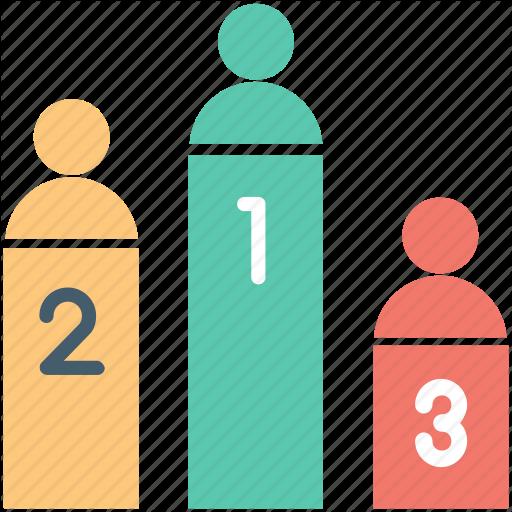 Leaderboards, Medal Rostrum, Podium, Prize Stage, Winner Stage Icon
