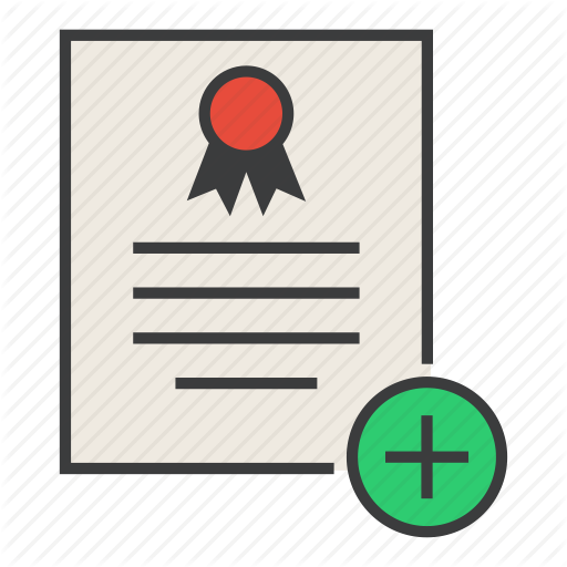Add, Certificate, Create, Document, New, Rules, Standard Icon