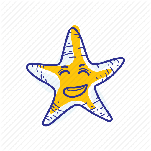 Animal, Happy, Nature, Ocean, Sea, Starfish Icon