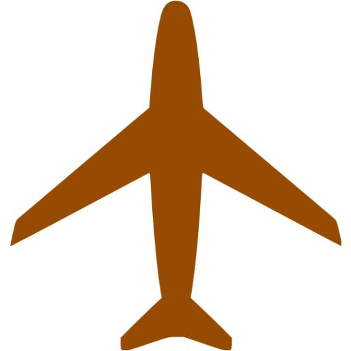 Brown Airplane Icon