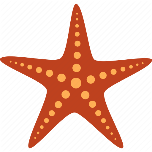 Echinoderm, Fish, Marine, Red, Sea, Star, Starfish Icon