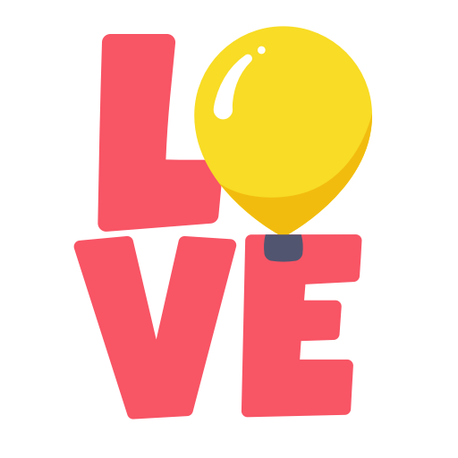 Layer, Love, Photo, Relationship, Sticker, Word Icon