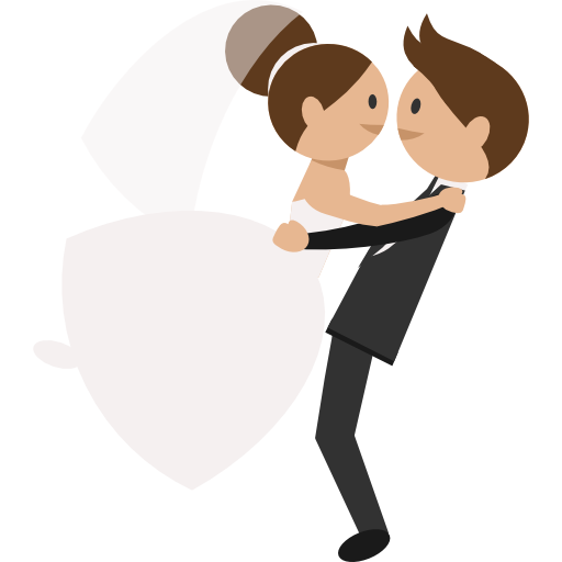 Wedding Couple Free Vector Icons Designed