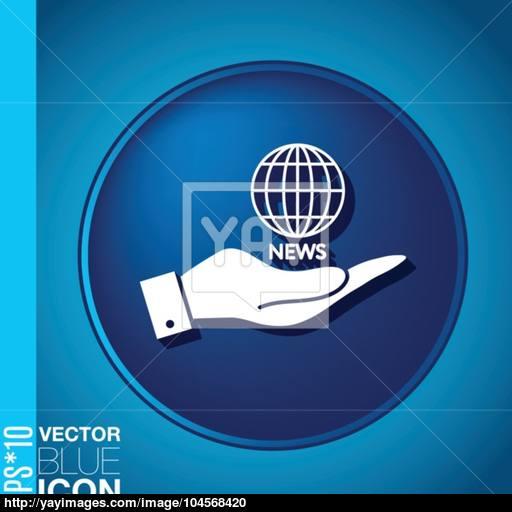 Hand Holding A Globe Symbol News Symbol News Icon Globe Planet